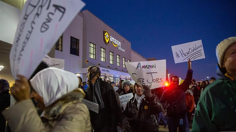 Workers at an Amazon, Inc, fulfillment center in Minnesota in the United States plan to go on strike next week during Prime Day, the company's July 15-15 online shopping event [File/Bloomberg]