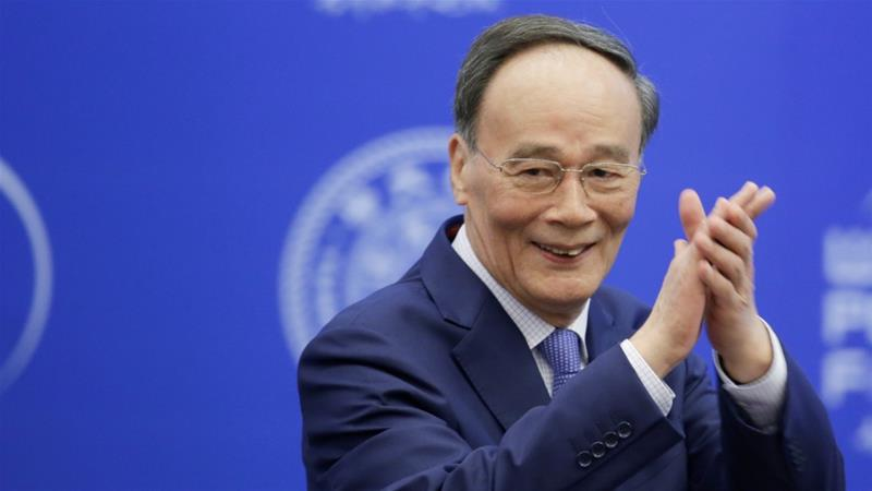 'China's development can't shut out the rest of the world. The world's development can't shut out China,' Chinese Vice President Wang Qishan told the World Peace Forum [Jason Lee/Reuters]