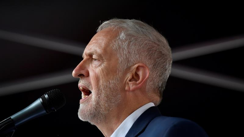 Corbyn also renewed calls for a general election in his letter to party members, saying the UK needed a Labour government to end the ruling Conservative Party's austerity measures [File: Toby Melville/Reuters]