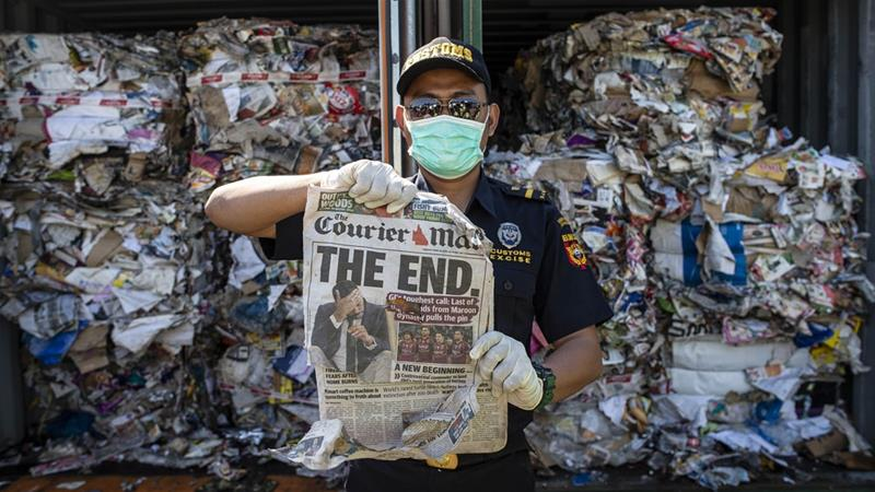 The opposition to handling exported waste has been growing in the region [Juni Kriswanto/AFP]