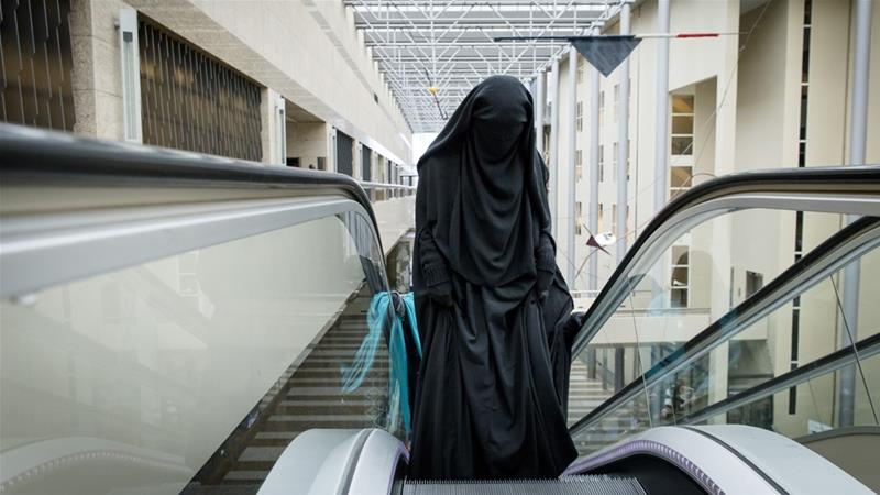 After 14 years of debate, a burqa ban has come into effect in the Netherlands [Bart Maat/ANP/AFP]