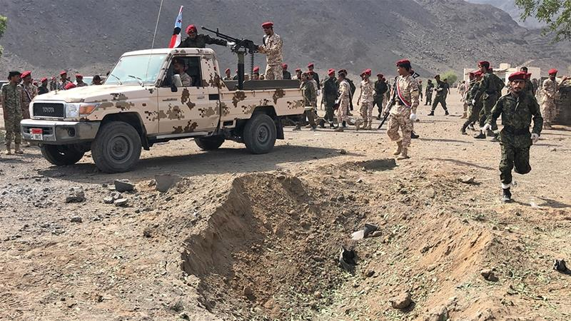 Yemen war: Houthi missile attack on military parade kills 32