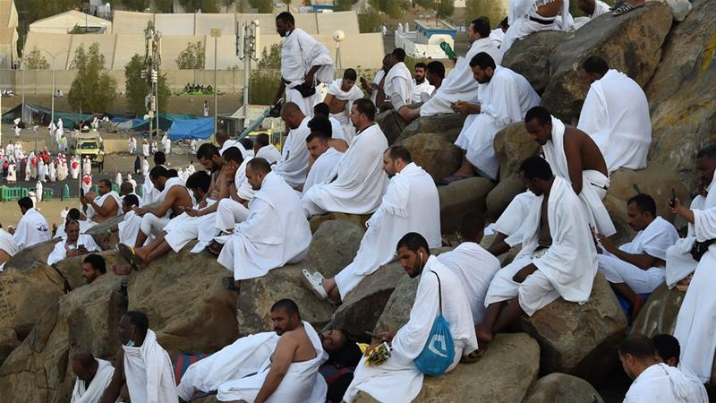 Two million Muslims gather at Mount Arafat for Hajj prayers