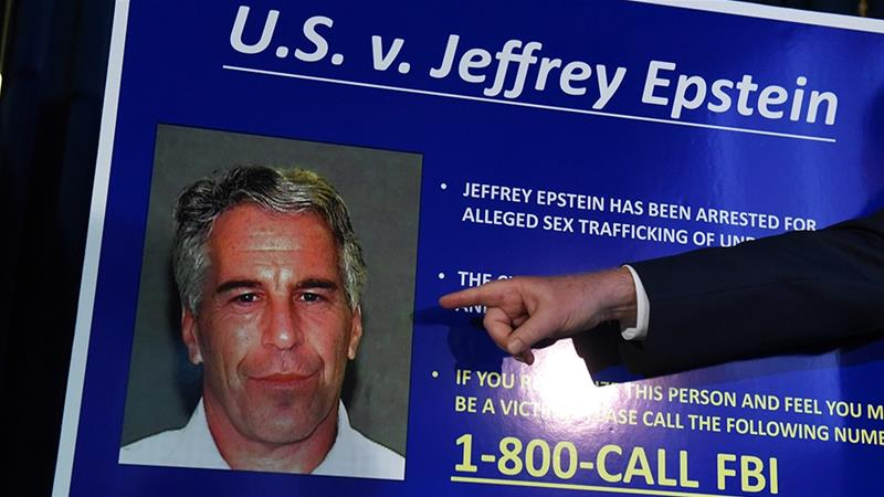 US Attorney for the Southern District of New York Geoffrey Berman announces charges against Jeffrey Epstein in New York City [File: Stephanie Keith/Getty Images]