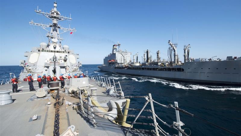 Several countries have refused to join the US effort to assemble a coalition to patrol the Gulf [US Navy/AP]