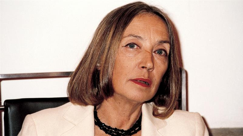 Fallaci's controversial messages criticising Islam and Muslims are often resurfaced on social media after attacks in the West [Gianangelo Pistoia/The Associated Press]