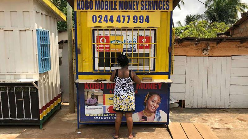 Mobile money customers soared 11-fold between 2013 and 2017 in Ghana [Andre Janse Van Vuuren/Bloomberg]