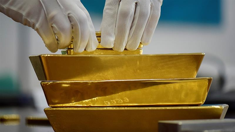 Gold prices have soared in recent days as investors have sought a safe haven from political and economic uncertainty [Mariya Gordeyeva/Reuters]