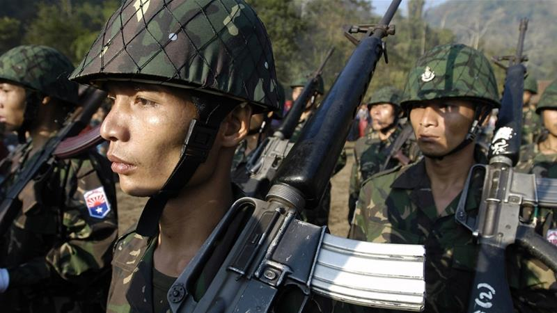 Myanmar's military frequently clash with several groups seeking greater autonomy in the country [David Longstreath/AP]