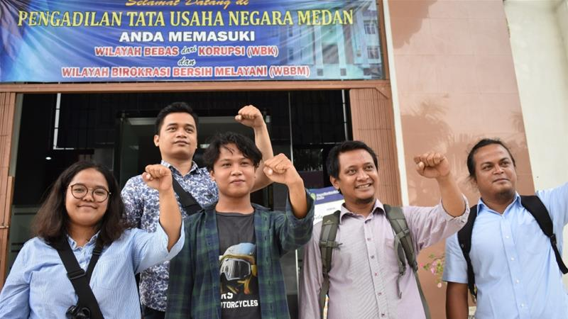 The University of North Sumatra dismissed all the staff of its student publication, Suara USU, in March [Aisyah Llewellyn/Al Jazeera]