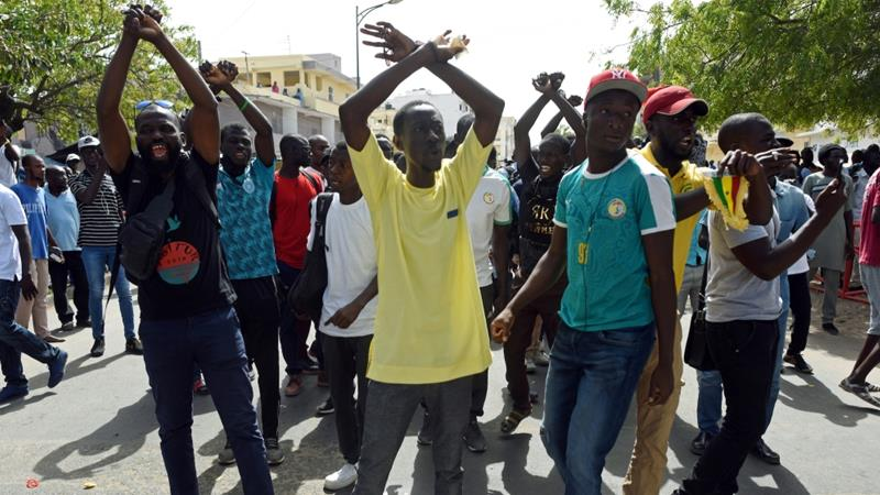There have been protests in Dakar, Senegal after the broadcast of a documentary alleging financial impropriety by Aliou Sall, brother of President Macky Sall June 14, 2019 [Sylvain Cherkaoui/Reuters]