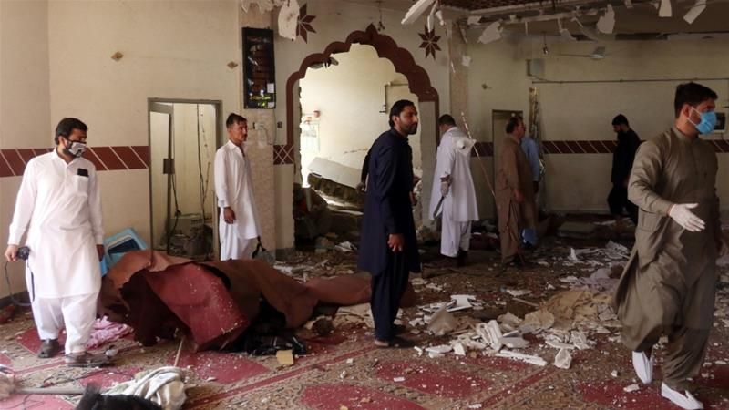 Two killed in Pakistan mosque bomb blast