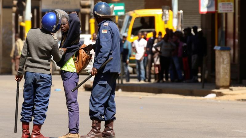 The protests were over worsening economic conditions and the jailing of Chief Ndiweni, a known critic of President Emmerson Mnangagwa [File: Philimon Bulawayo/Reuters]