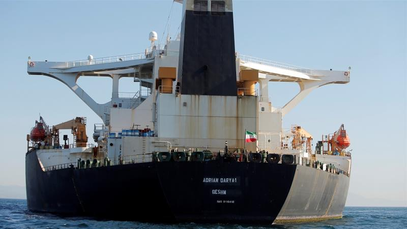 Gibraltar rejects USA pressure to hold Iranian oil tanker
