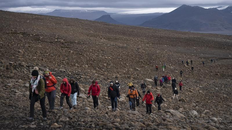Iceland bids farewell to first glacier lost to climate