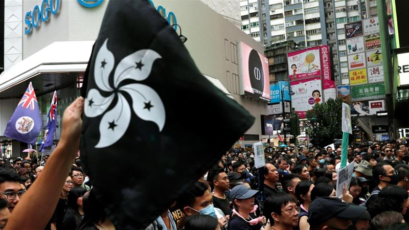 Dueling Vancouver protests over Hong Kong for second straight day