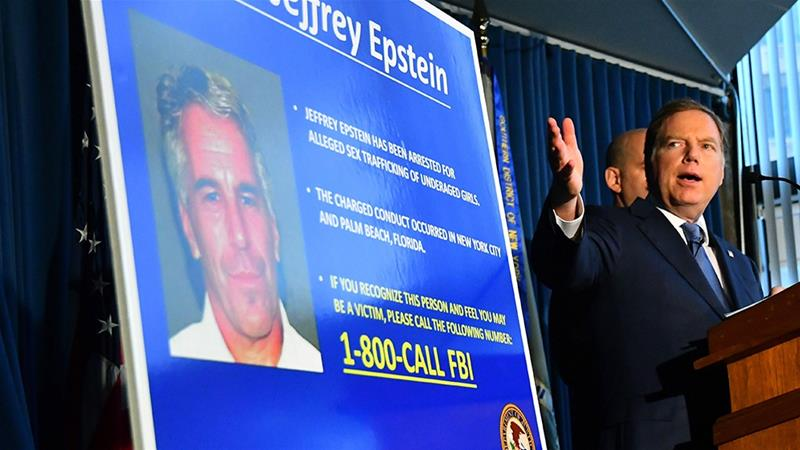 In July, now-deceased multimillionaire Jeffrey Epstein was indicted on charges of sexually abusing dozens of girls. He pleaded not guilty and was denied bail prior to committing suicide on August 10, 2019 [Louis Lanzano/Bloomberg]