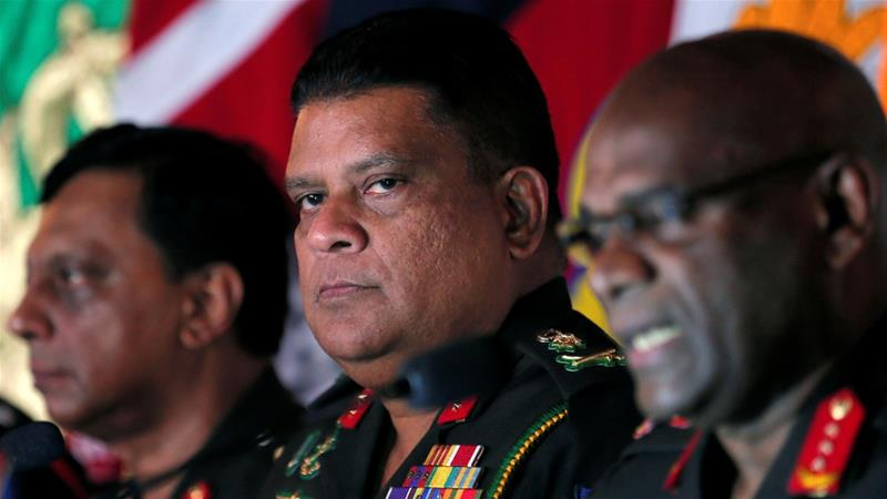 Silva in January had been promoted to the second highest post in the country's military [File: Dinuka Liyanawatte/Reuters]