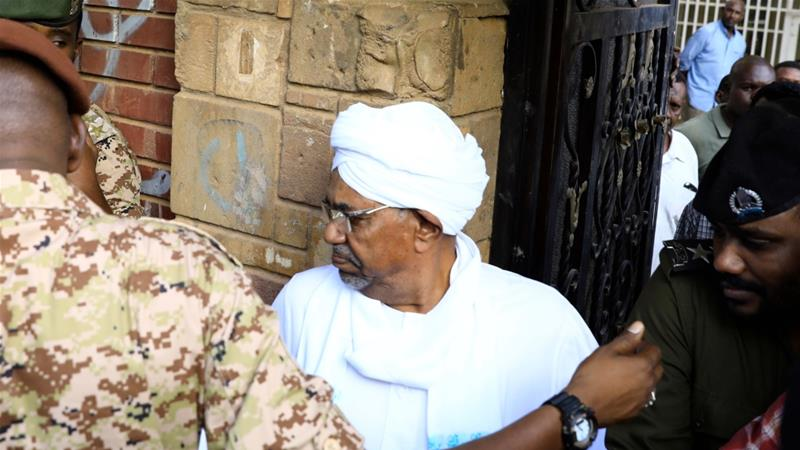 Sudan's ex-ruler al-Bashir arrives in court to face fraud charges