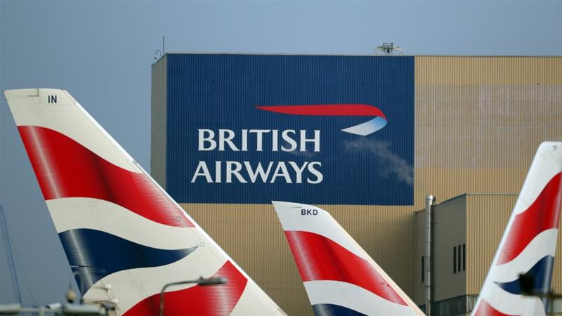 IAG, the owner of British Airways, says it has not seen any impact on passenger bookings ahead of Brexit [File: Hannah McKay/Reuters]