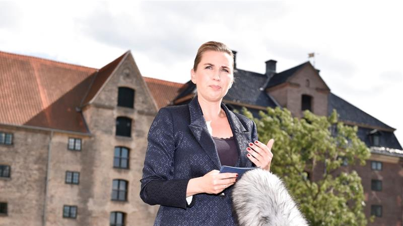 Danish PM Mette Frederiksen addresses the media after US President Donald Trump's cancellation of his visit to Denmark [Ritzau Scanpix/Mads Claus Rasmussen/Reuters]