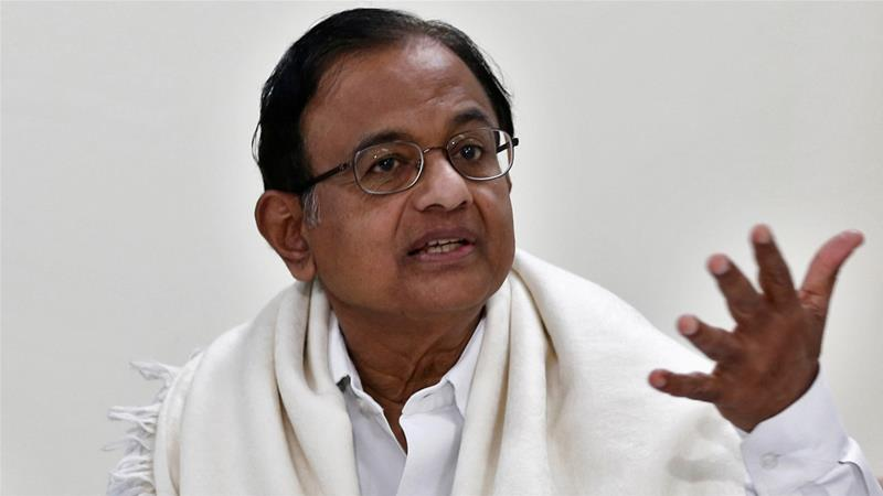 Chidambaram, 73, says the corruption allegations are part of a 'political vendetta' against him. [File: Adnan Abidi/Reuters]