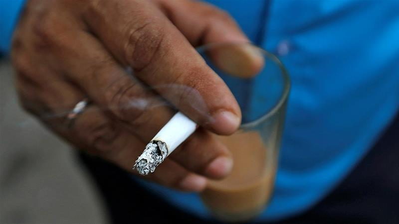 Despite more than 900,000 tobacco-related deaths per year in India, there are more than 100 million adult smokers in the country, making it a lucrative market for firms looking to sell electronic cigarettes [Danish Siddiqui/File/Reuters]