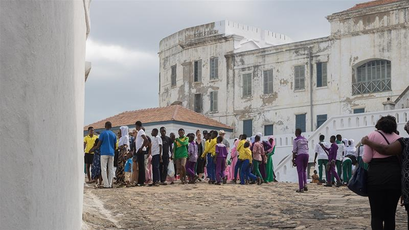 The Cape Coast castle, built with local labour in the 17th century, is frequented by tourists [Edem Robby Abbeyquaye/Al Jazeera]