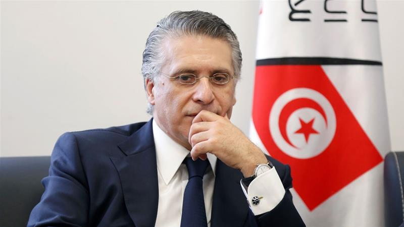 Karoui, who was arrested in August on money laundering and tax evasion charges, finished second behind Saied in Sunday's election.