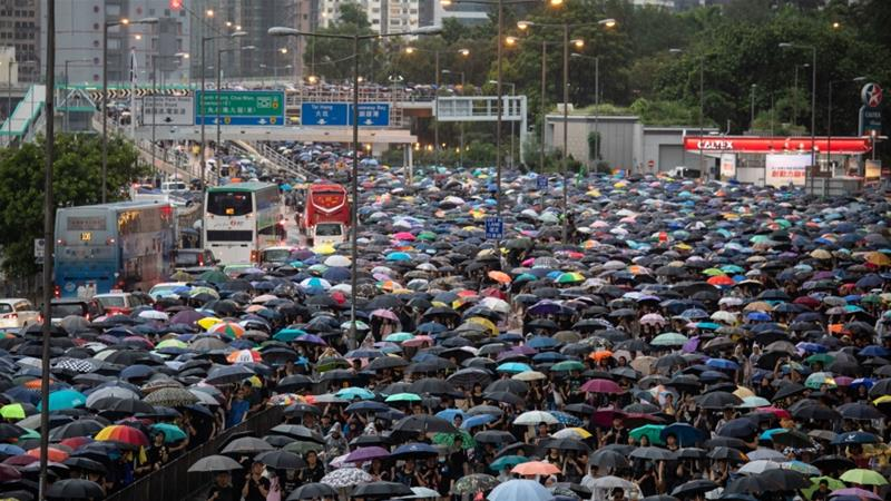 With no end in sight to the protests, Hong Kong's financial markets are in one of their most volatile periods in years, and signs of a turnaround are few and far between [Bloomberg]