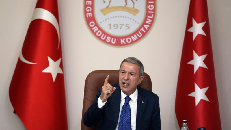 Hulusi Akar said two generals from Turkey and the US were in charge of the joint centre [File: Anadolu]