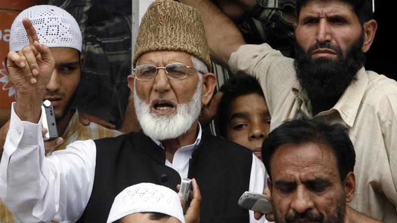 Syed Ali Shah Geelani has been under house arrest in the region's main city of Srinagar for several years [File: Adnan Abidi/Reuters]
