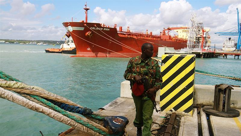 The oil tanker Celsius Riga sailed off with over 200,000 barrels of Kenya''s first oil export Monday from the port of Mombasa [Joseph Okanga/Reuters]