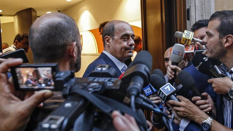 Democratic Party chief Nicola Zingaretti says his goal is to form a lasting government [Fabio Frustaci/EPA]