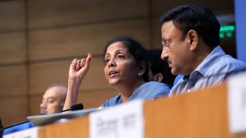 Finance Minister Nirmala Sitharaman announced a number of measures on Friday to help reignite a slowing economy [File: T Narayan/Bloomberg]