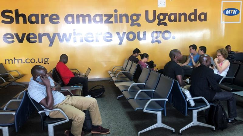 Uganda Airlines is relaunching from its base at Entebbe International Airport just outside the capital, Kampala [Thomas Mukoya/Reuters]