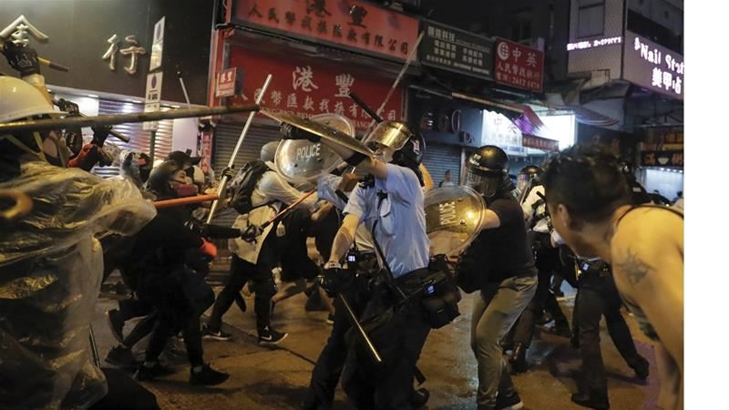 Over 700 demonstrators have been arrested since protests began in Hong Kong more than two months ago [Kin Cheung/AP]
