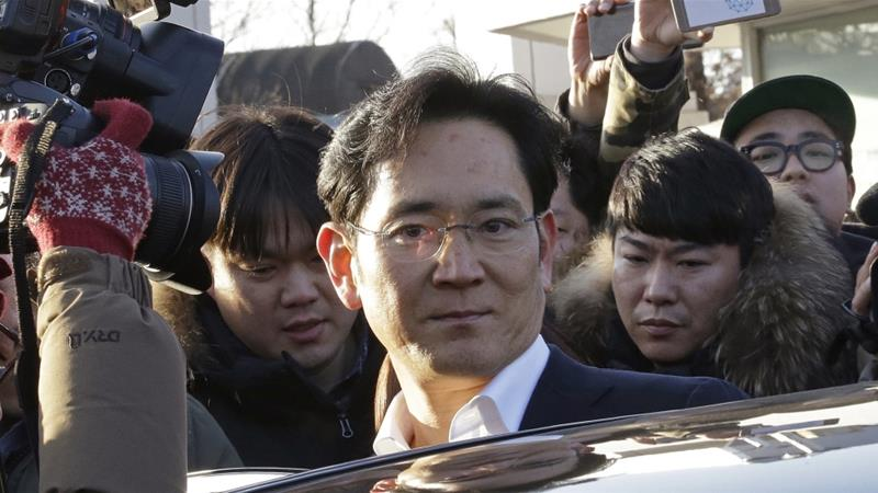 Lee is poised to take control of the Samsung Group from his father [File: Ahn Young-joon/AP]
