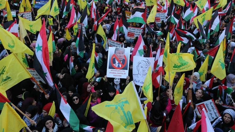 The Hezbollah movement commands significant support across Lebanon, but particularly in Beirut's southern suburbs [Aziz Taher/Reuters]