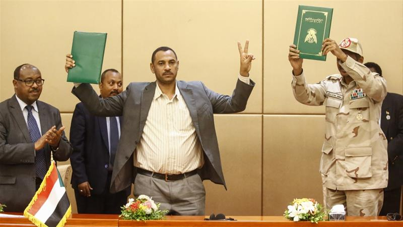 Sudan rivals sign historic constitution declaration for transition to civilian rule