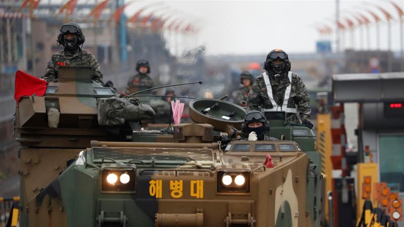 Pyongyang regularly opposes such US-South Korean joint military exercises [File: Kim Hong-Ji/Reuters]