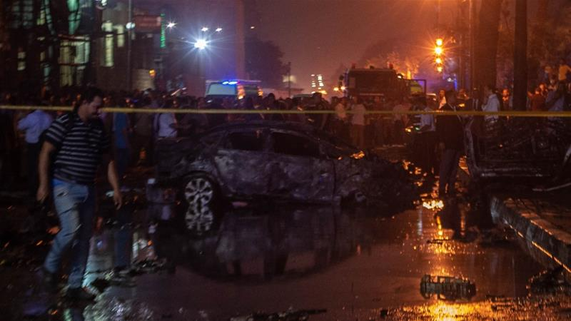Egypt car crash sets off deadly explosion outside Cairo