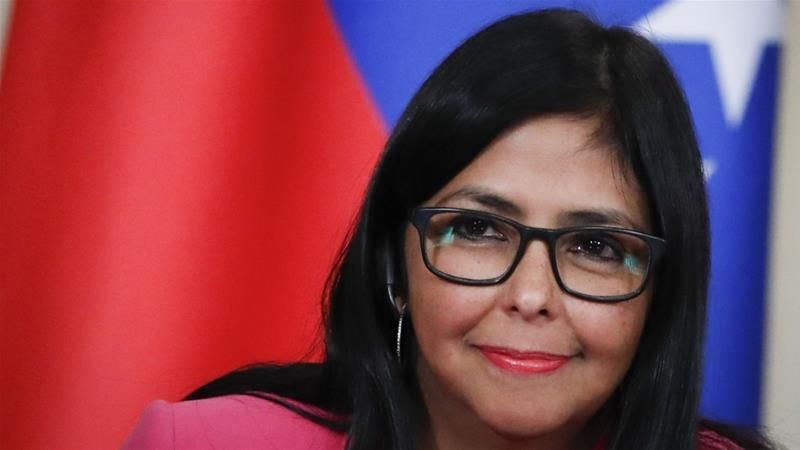 Venezuelan Vice President Delcy Rodriguez said the US measures were likely to bring additional hardship to the Venezuelan people [File: Pavel Golovkin/AP]