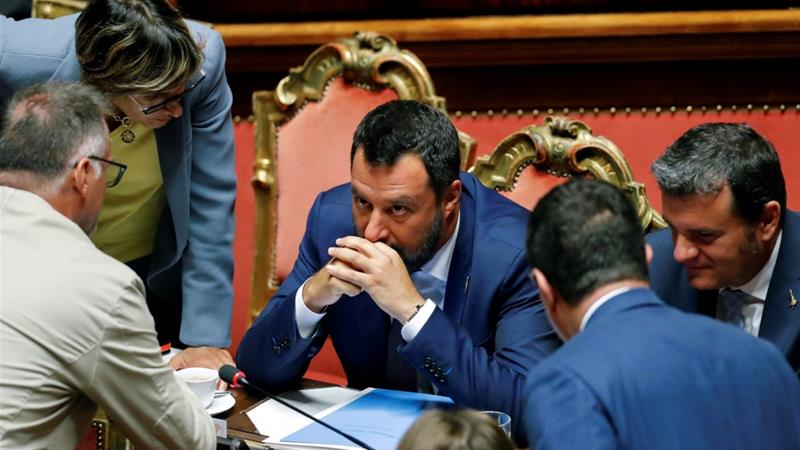 Italy's Senate could convene as early as August 20 to declare the end of the government [File: Remo Casilli/Reuters]