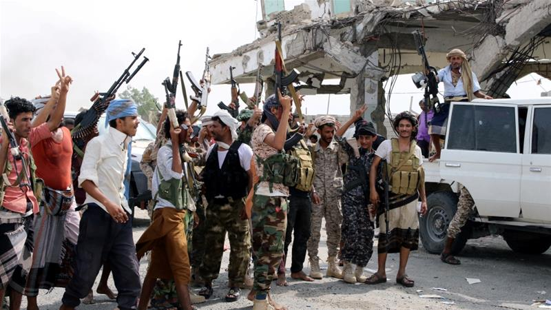 Southern separatist fighters have made gains in controlling Aden in recent months with the help of the UAE [File: Fawaz Salman/Reuters]