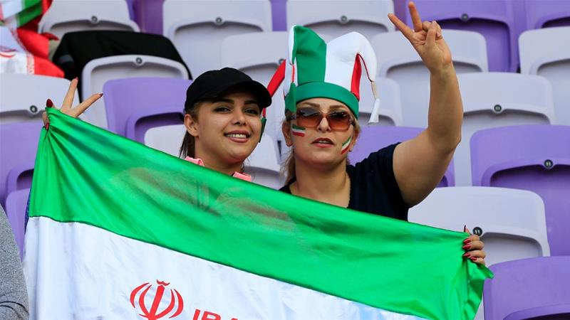 Iranian female fans have been denied access to football matches in the country [File: Thaier Al-Sudani/Reuters]