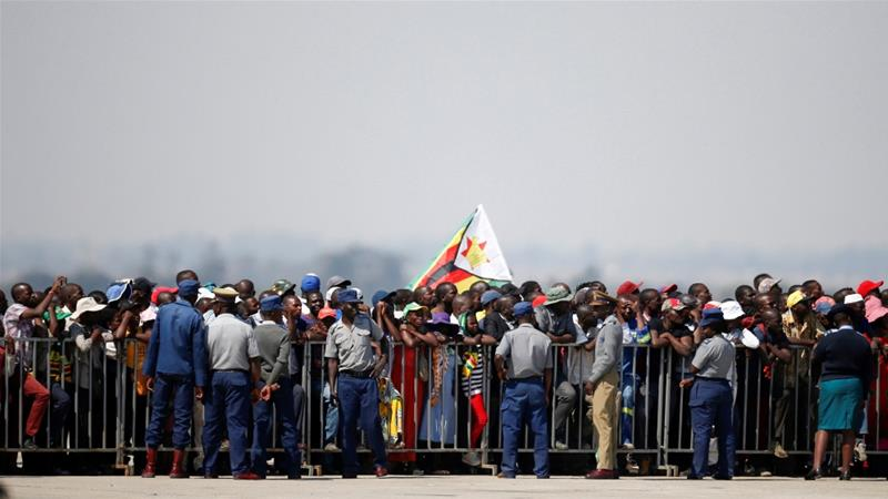 Robert Mugabe's body arrives in Harare, kicking off funeral programme