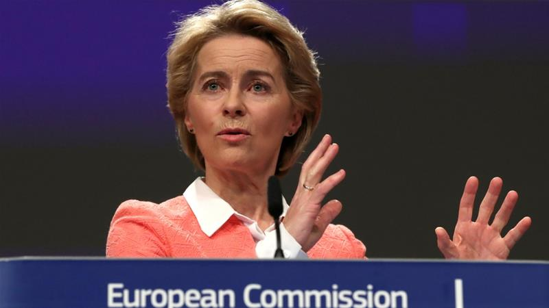 Von der Leyen defended the job title by explaining that it was part of her political guidelines [Yves Herman/Reuters]