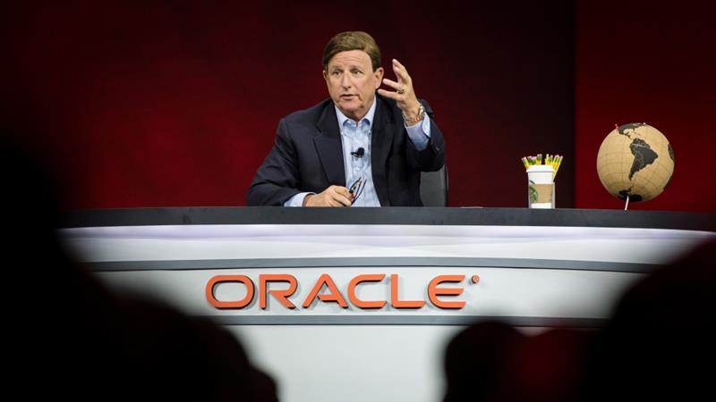 Mark Hurd, one of Oracle Corp's two chief executive officers, has been in and out of the public eye over the past year-and-a-half as the company avoided discussions of his health [File: David Paul Morris/Bloomberg]