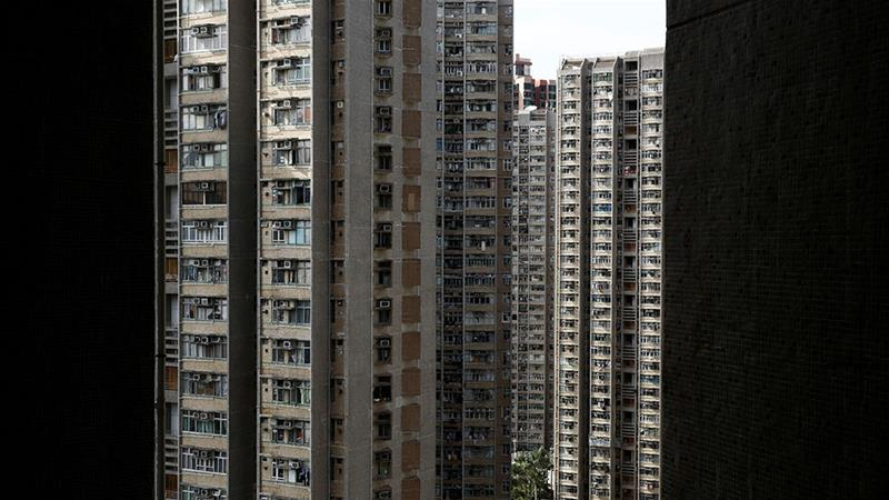 Hong Kong is one of the most densely-populated cities in the world with sky-high property prices. Leader Carrie Lam is now promising policies to make housing more affordable. [Thomas Peter/Reuters]